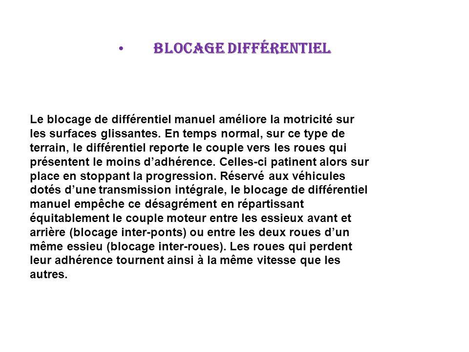 blocage différentiel