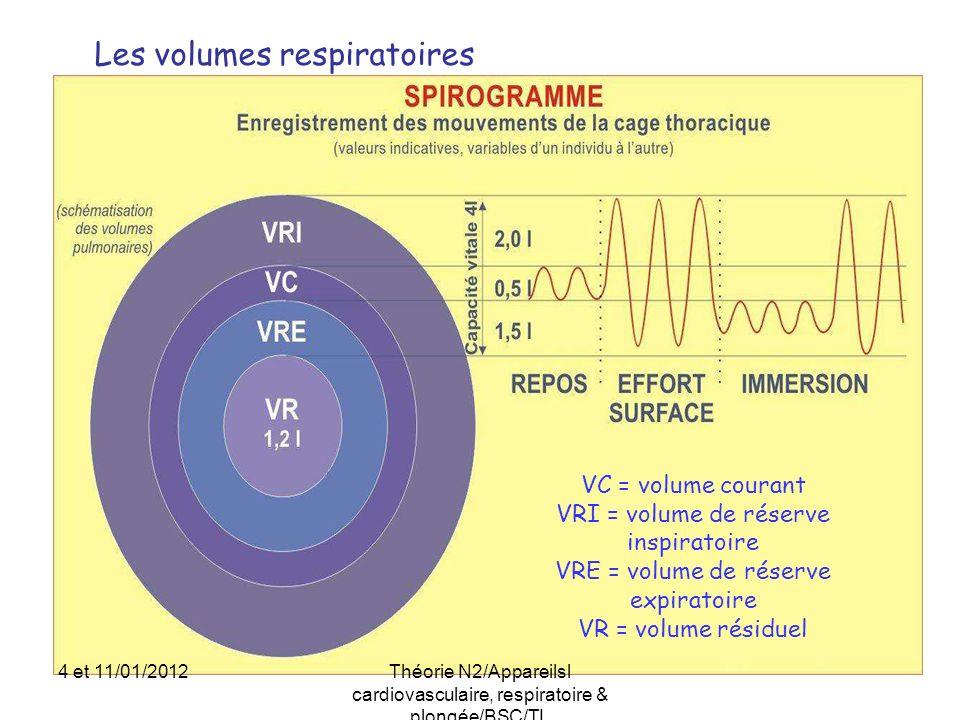 Les volumes respiratoires