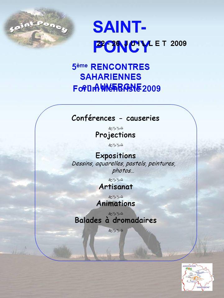 5ème RENCONTRES SAHARIENNES Conférences - causeries