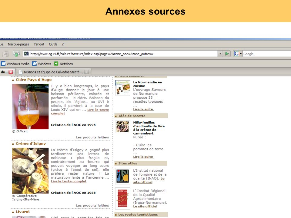Annexes sources