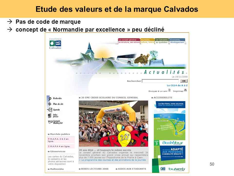 Etude des valeurs et de la marque Calvados