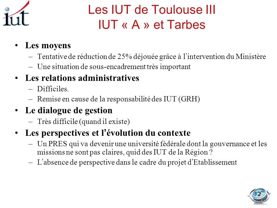 Les IUT de Toulouse III IUT « A » et Tarbes