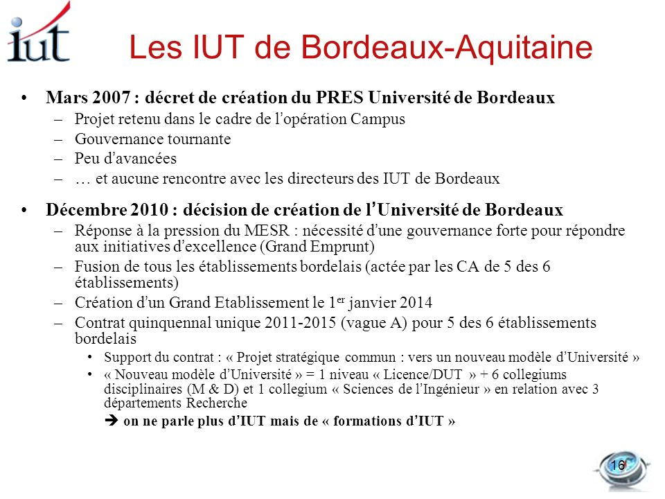 Les IUT de Bordeaux-Aquitaine