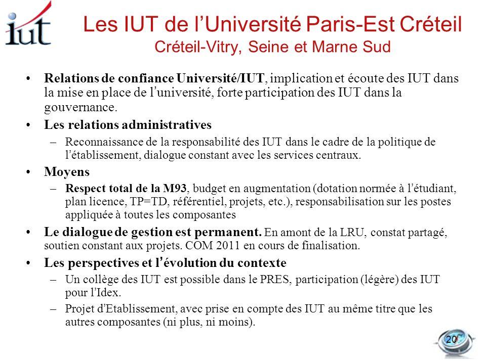 Les IUT de l'Université Paris-Est Créteil Créteil-Vitry, Seine et Marne Sud