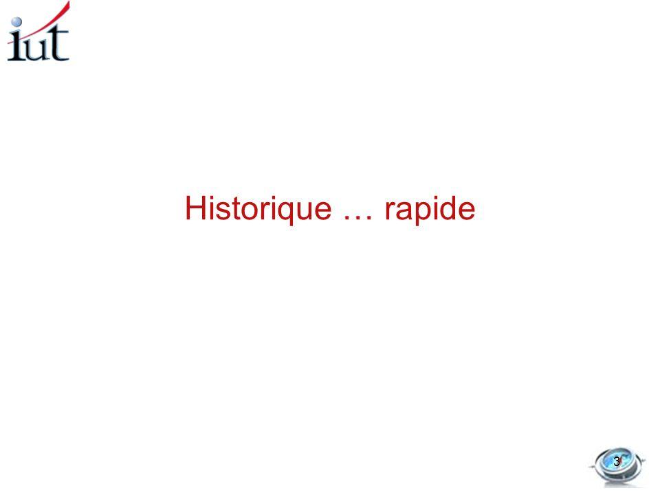 Historique … rapide