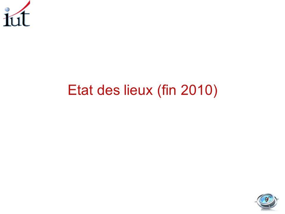 Etat des lieux (fin 2010)