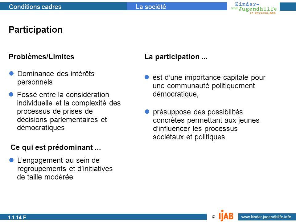 Participation Problèmes/Limites La participation ...
