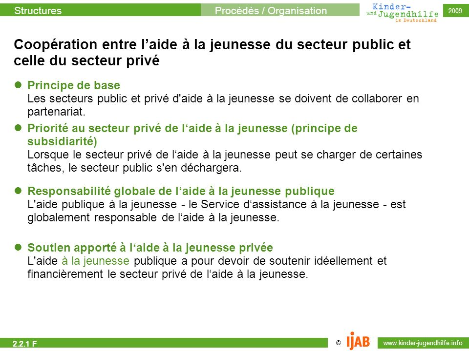 Coopération entre l'aide à la jeunesse du secteur public et celle du secteur privé