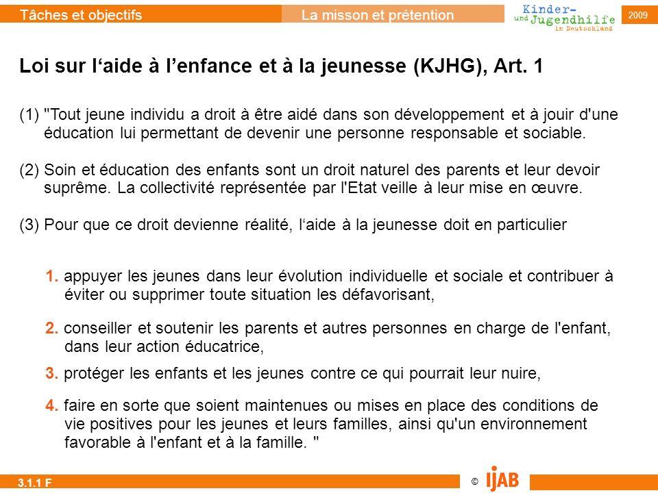 Loi sur l'aide à l'enfance et à la jeunesse (KJHG), Art. 1