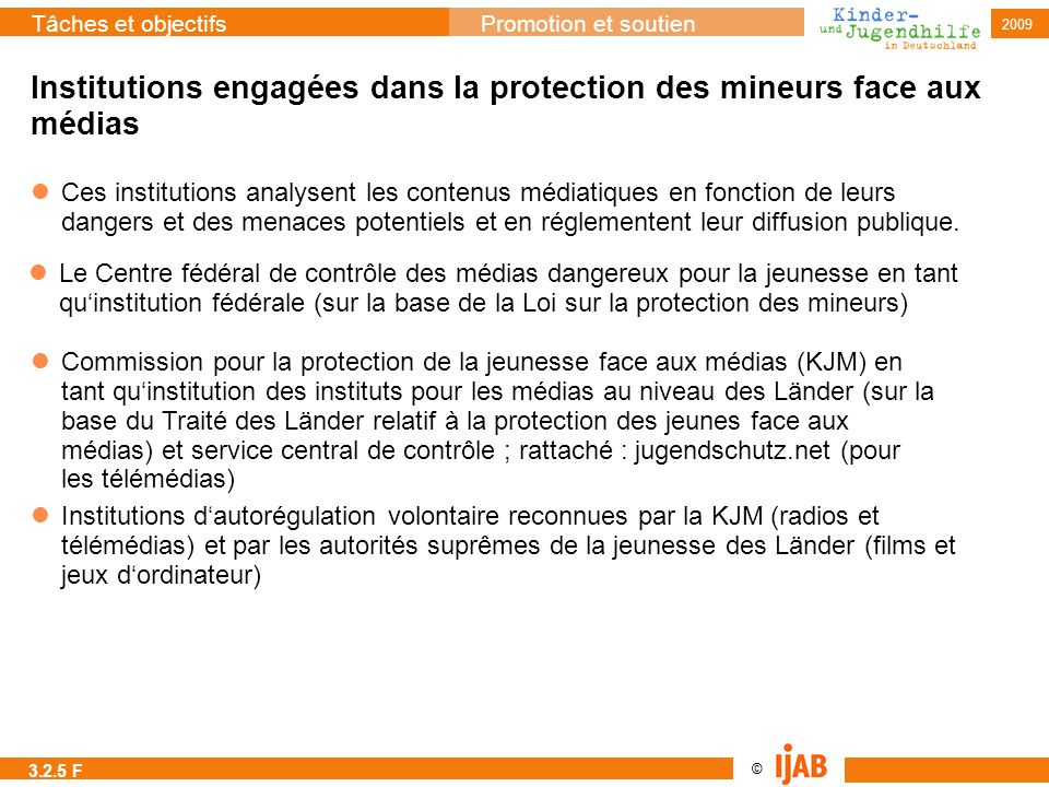 Institutions engagées dans la protection des mineurs face aux médias