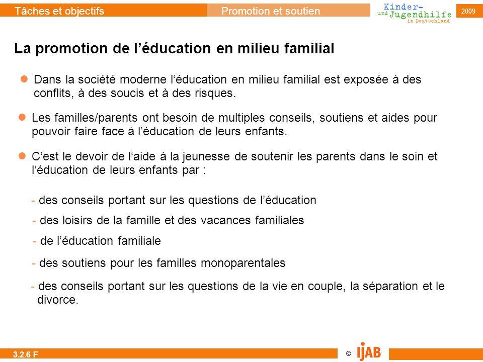 La promotion de l'éducation en milieu familial