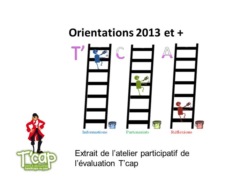 Orientations 2013 et + Extrait de l'atelier participatif de l'évaluation T'cap