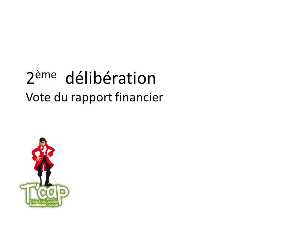 2ème délibération Vote du rapport financier