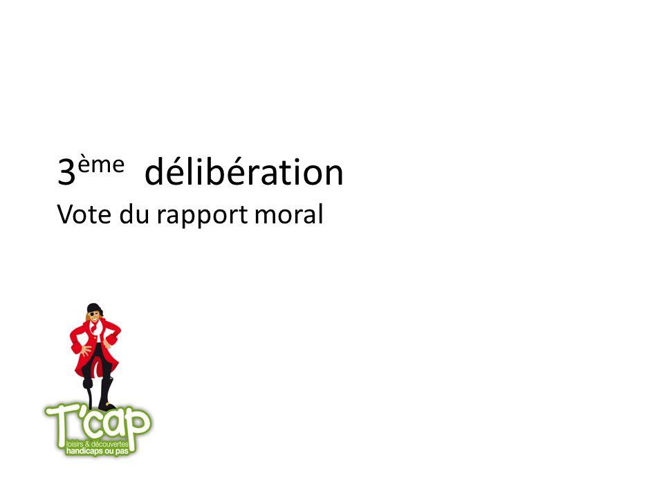 3ème délibération Vote du rapport moral