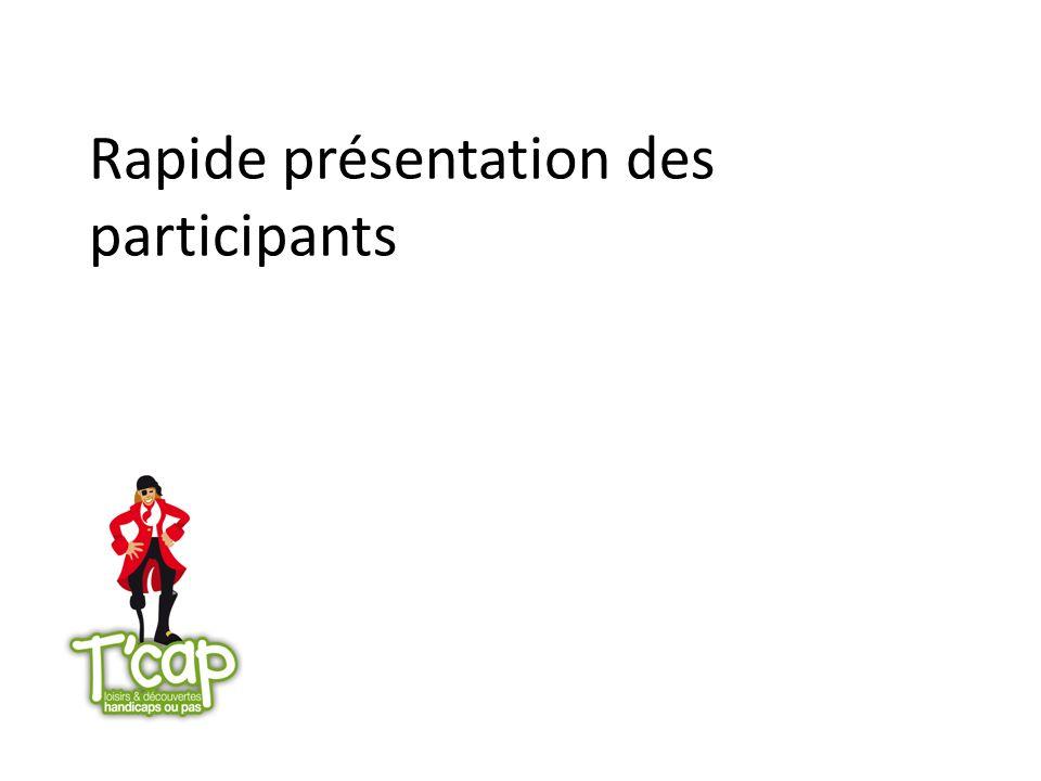 Rapide présentation des participants