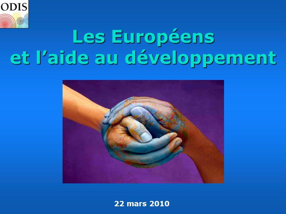 Les Européens et l'aide au développement