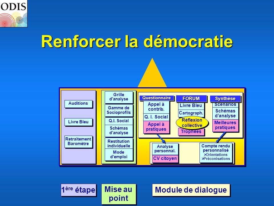 Renforcer la démocratie