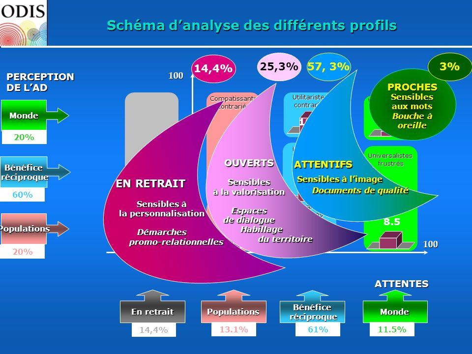 Schéma d'analyse des différents profils