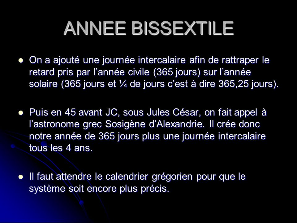 annee bissextile definition