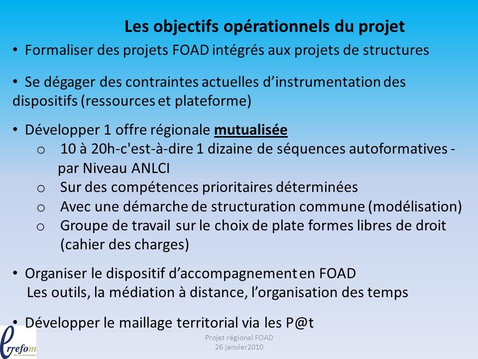 Projet régional FOAD 26 janvier2010