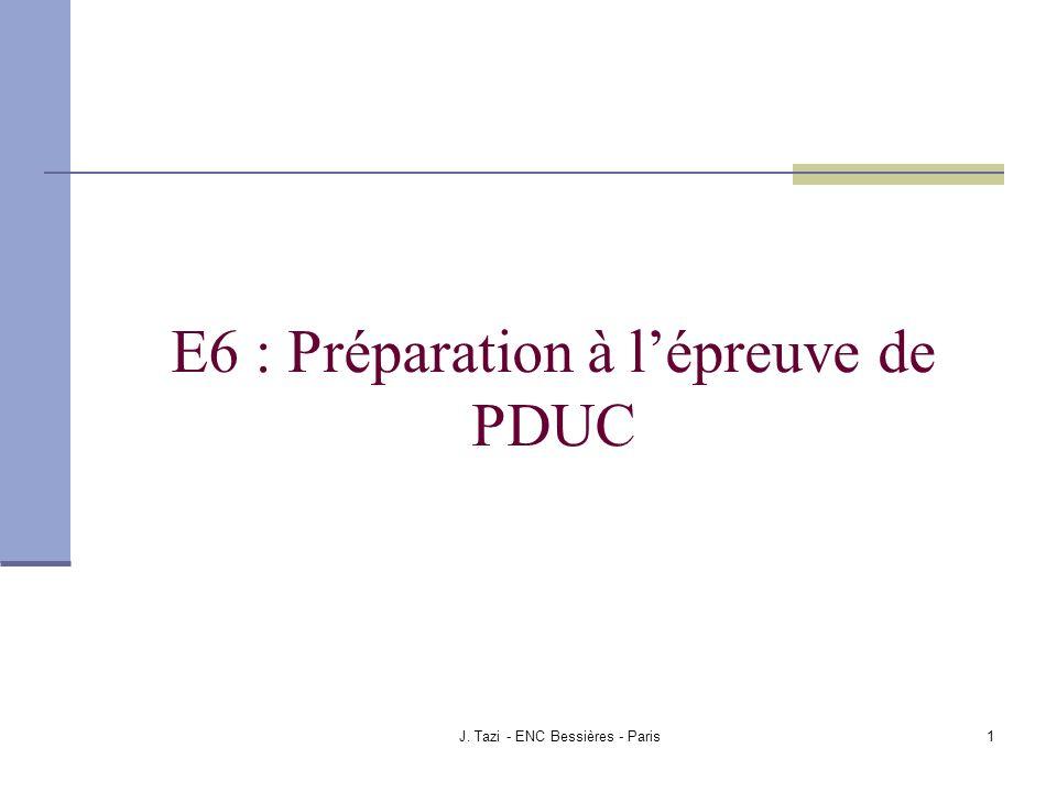 E6 : Préparation à l'épreuve de PDUC