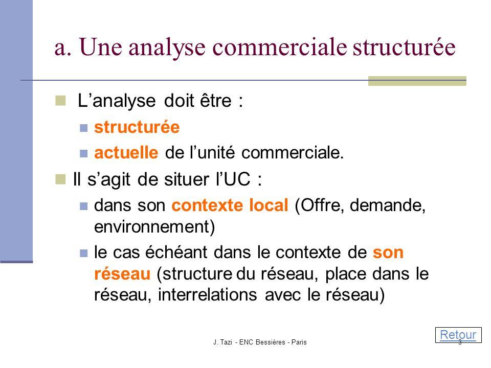 a. Une analyse commerciale structurée