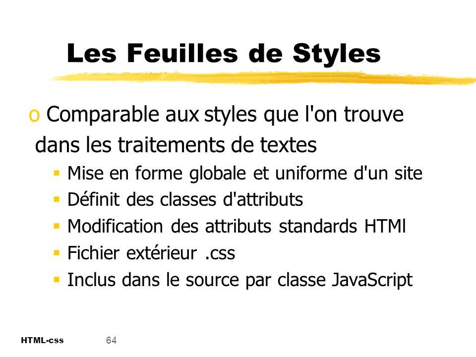 Les Feuilles de Styles Comparable aux styles que l on trouve