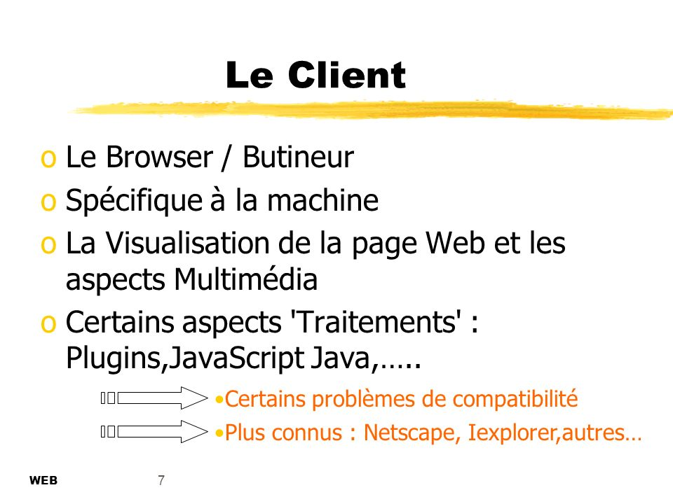Le Client Le Browser / Butineur Spécifique à la machine