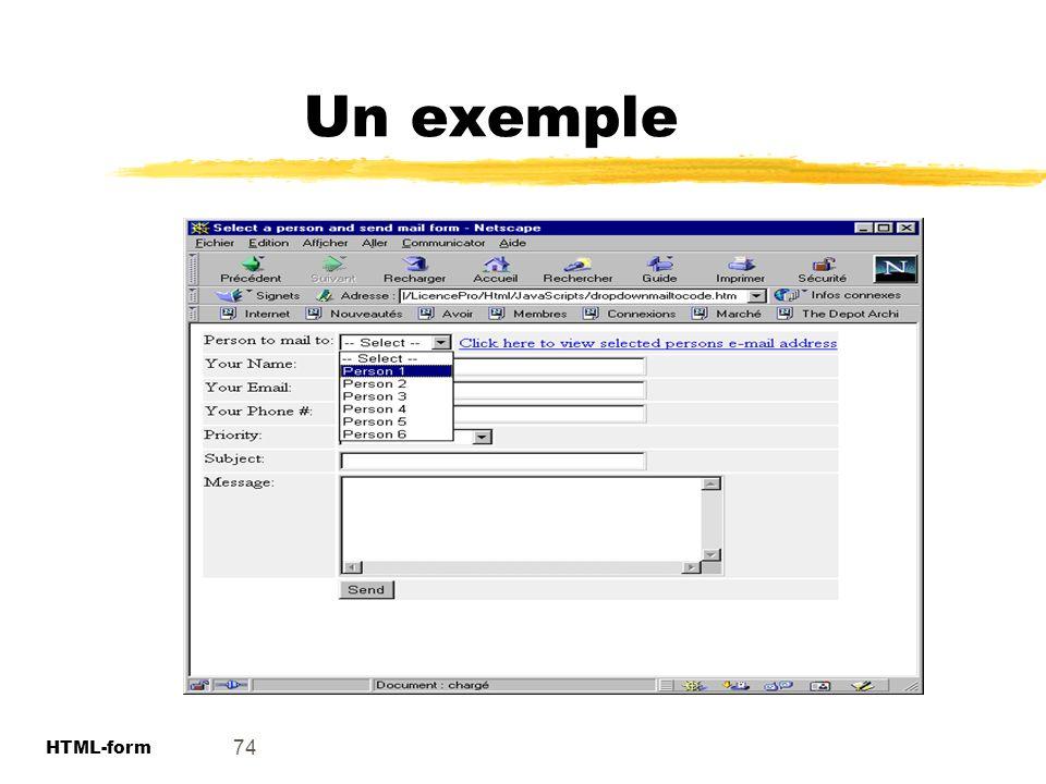 Un exemple 74 HTML-form