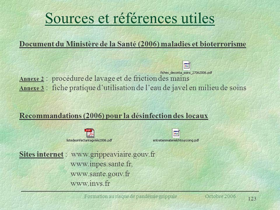 Sources et références utiles