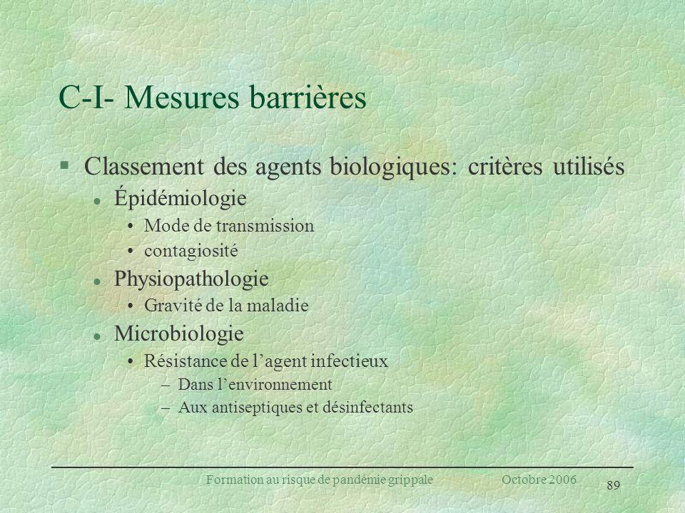 C-I- Mesures barrières