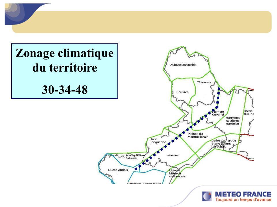 Zonage climatique du territoire