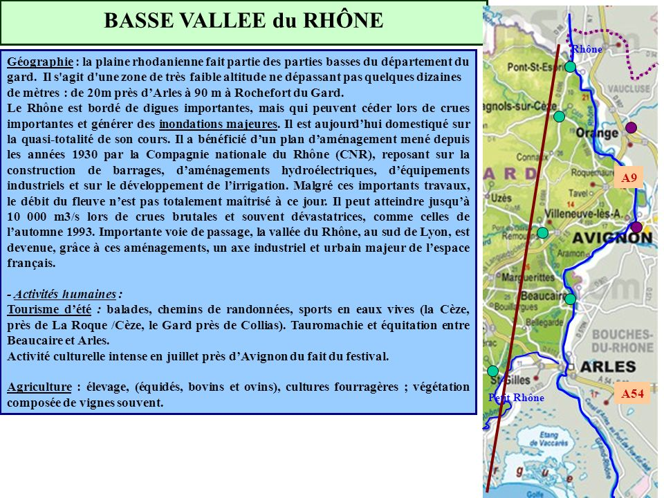 BASSE VALLEE du RHÔNE Rhône.