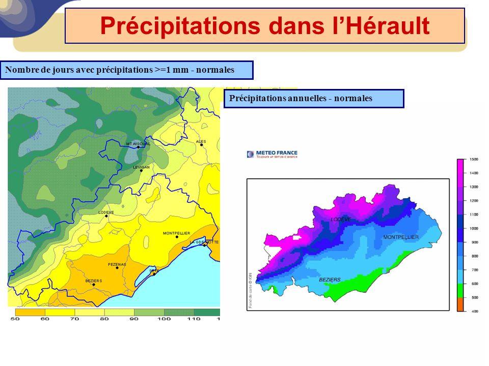 Précipitations dans l'Hérault