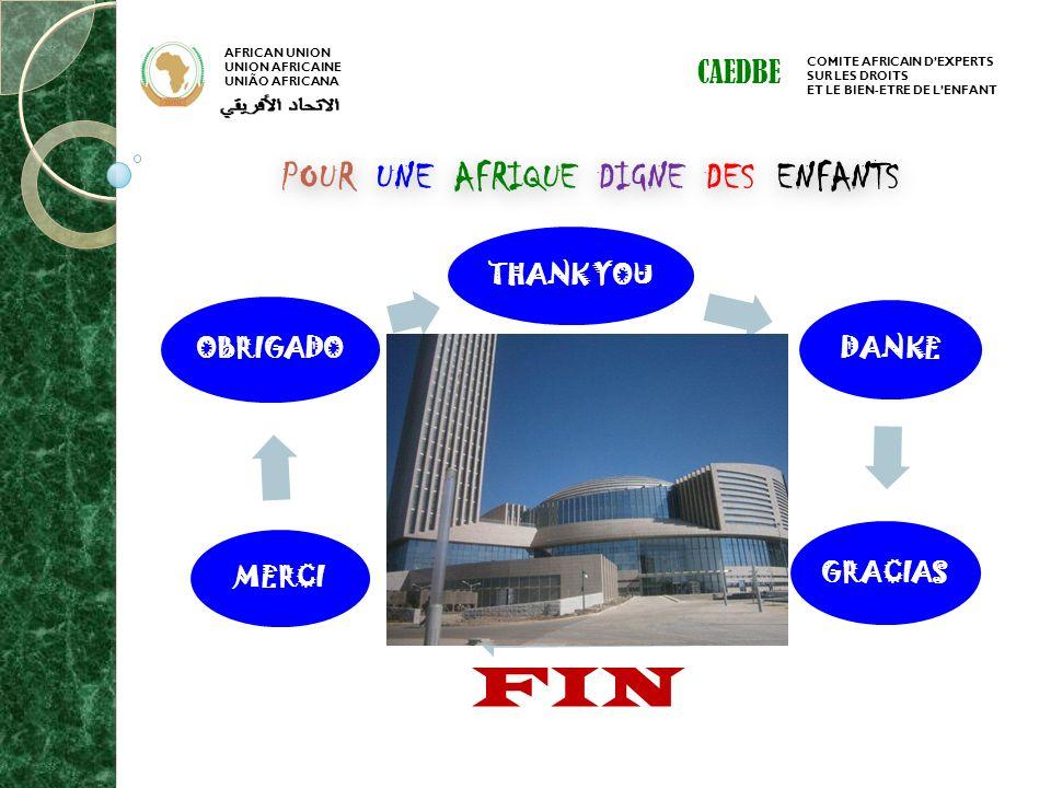 FIN POUR UNE AFRIQUE DIGNE DES ENFANTS CAEDBE THANK YOU DANKE GRACIAS