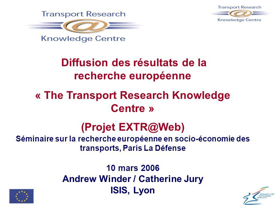 Diffusion des résultats de la recherche européenne