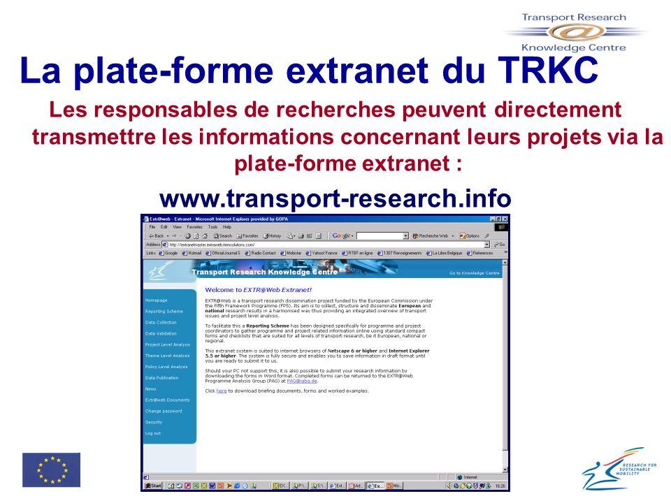 La plate-forme extranet du TRKC