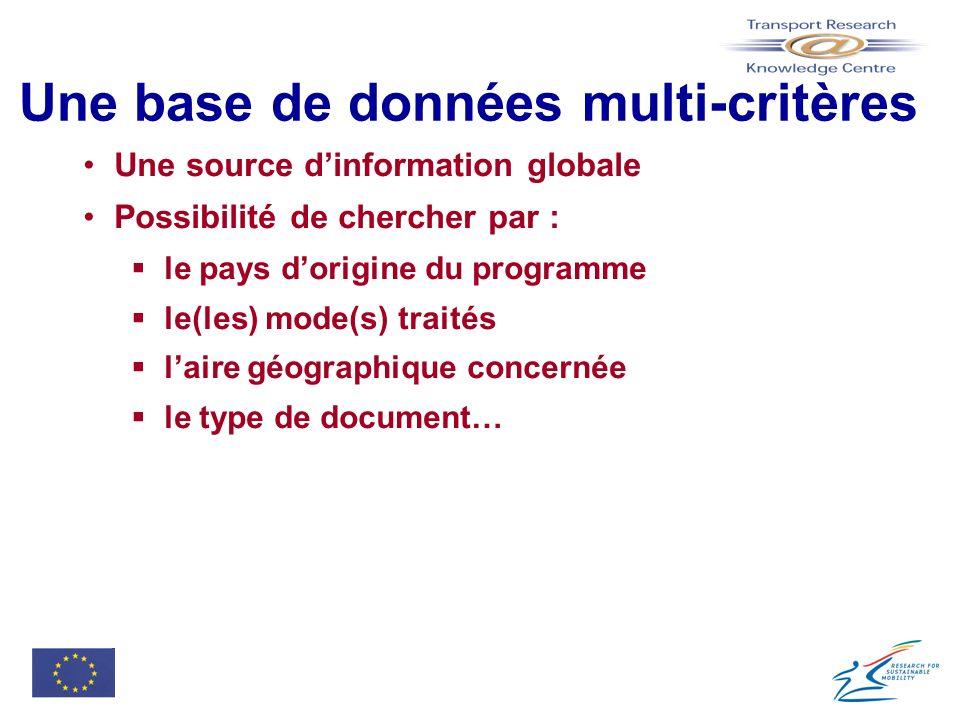 Une base de données multi-critères