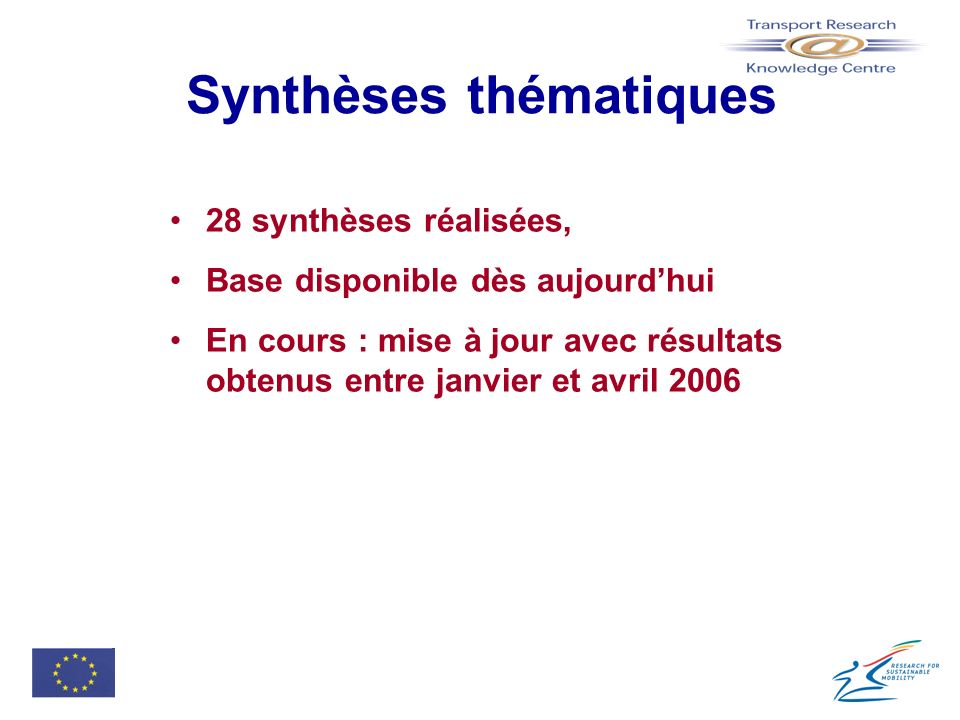 Synthèses thématiques