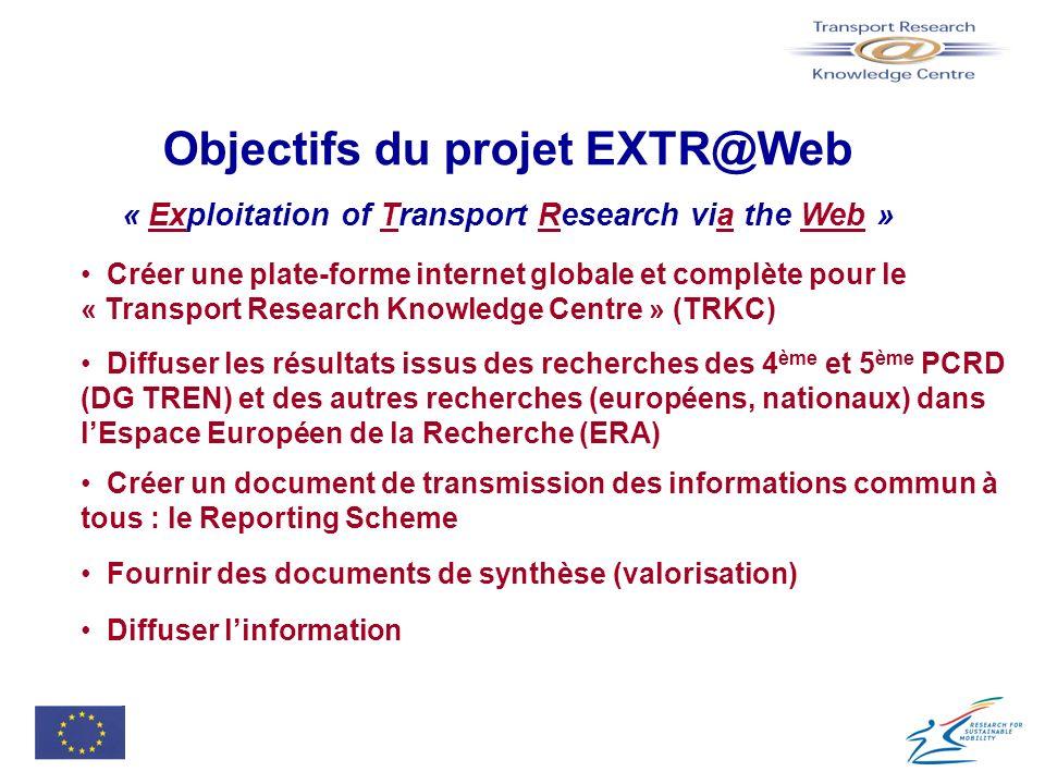 Objectifs du projet EXTR@Web