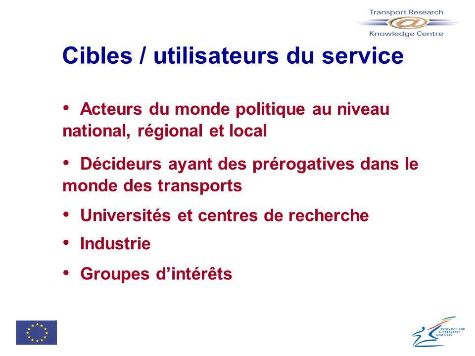 Cibles / utilisateurs du service