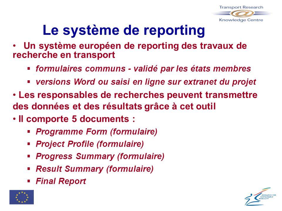 Le système de reporting
