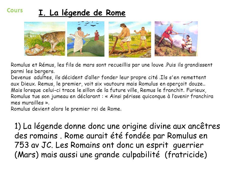 Cours I. La légende de Rome.