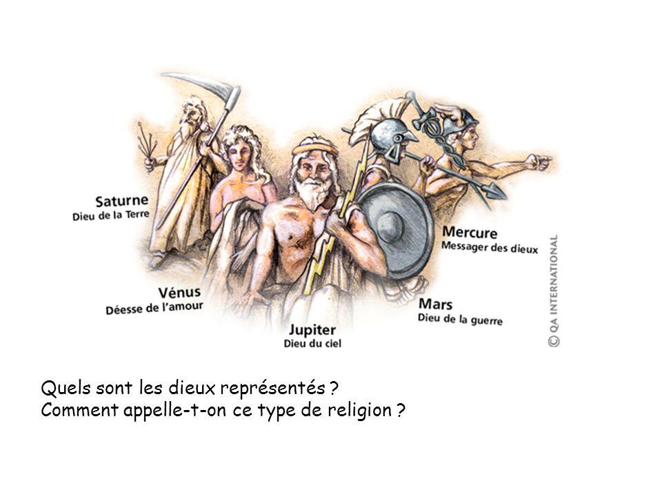 Quels sont les dieux représentés