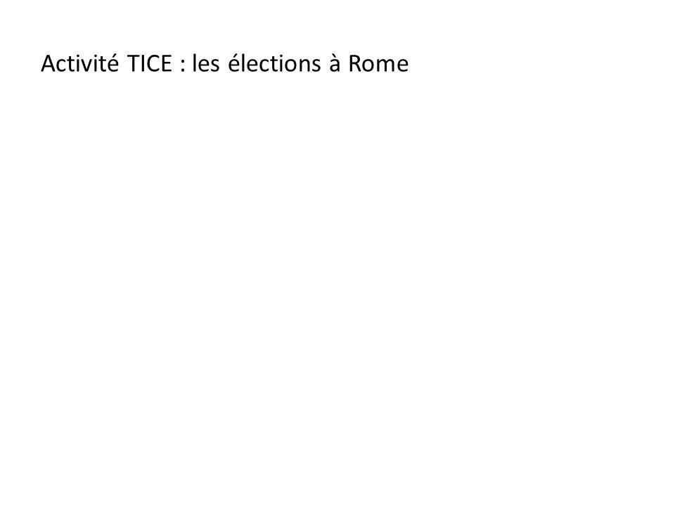 Activité TICE : les élections à Rome