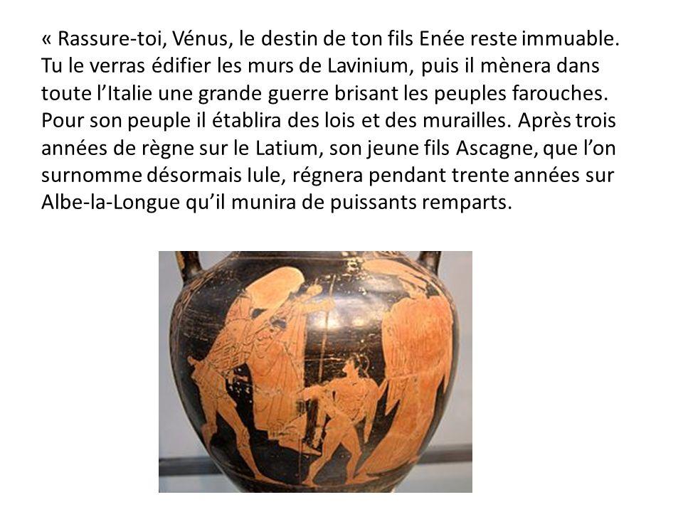 « Rassure-toi, Vénus, le destin de ton fils Enée reste immuable