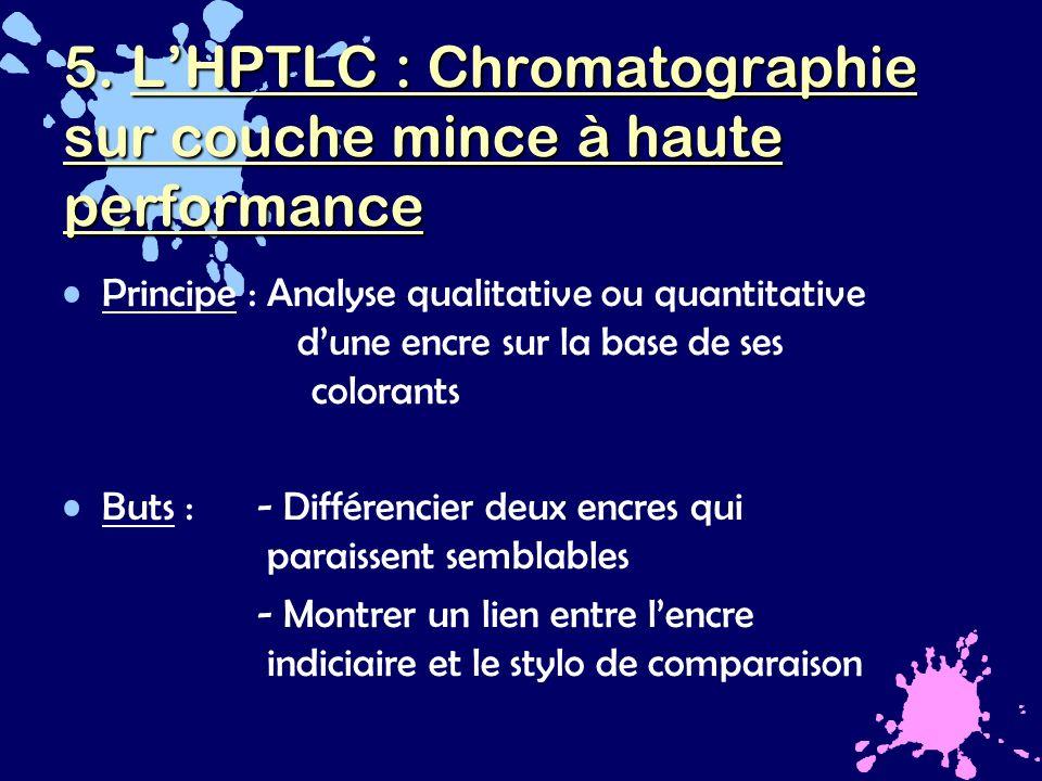 L analyse des encres par hptlc ppt t l charger - Chromatographie sur couche mince principe ...