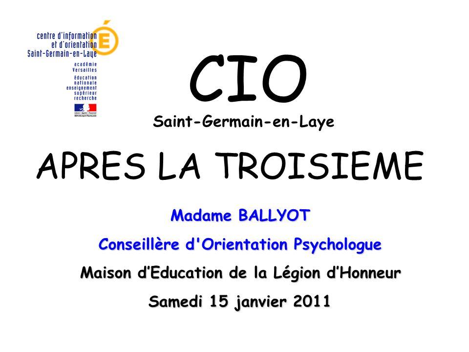 CIO APRES LA TROISIEME Saint-Germain-en-Laye Madame BALLYOT