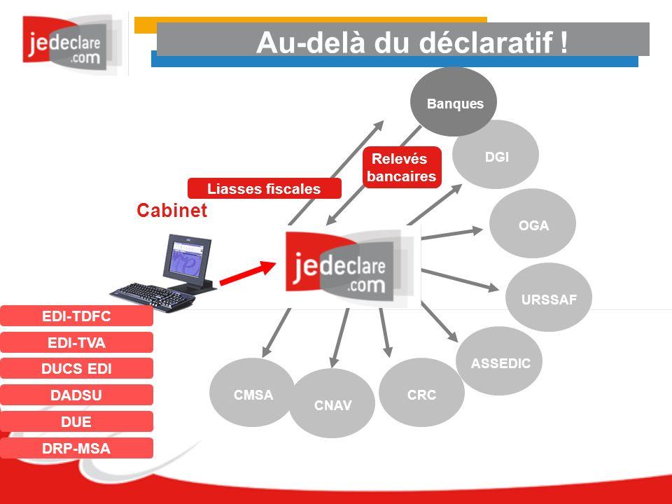 Au-delà du déclaratif ! Cabinet Relevés bancaires Liasses fiscales