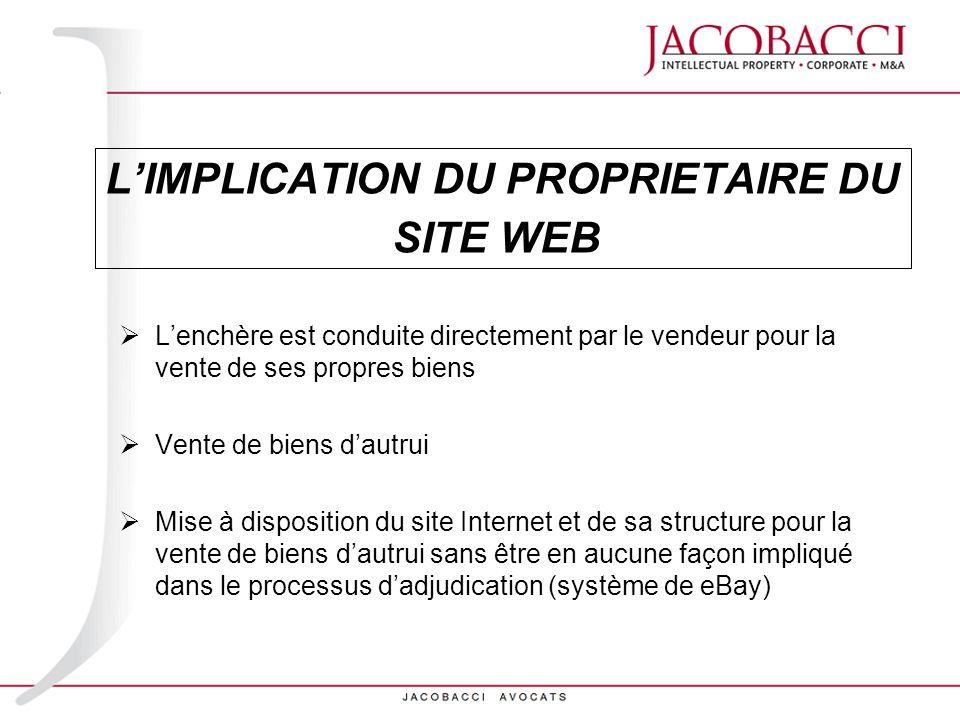 L'IMPLICATION DU PROPRIETAIRE DU SITE WEB
